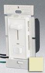 Single Pole 600W Slide Dimmer w/ LED & Rocker Switch, Ivory