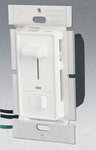 3-Way 600W Slide Dimmer w/ LED & Rocker Switch, White