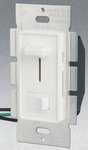 Single Pole 700W Slide Dimmer w/ Rocker Switch, White