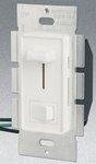 Single Pole 600W Slide Dimmer w/ Rocker Switch, White
