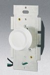 Single Pole 600W Rotary Dimmer w/ Push On/Off Switch, White