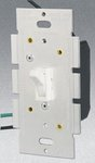 Single Pole 600W Toggle Dimmer, White