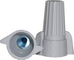 Gray Winged Wire Connectors, Easy-Twist 18-8 AWG