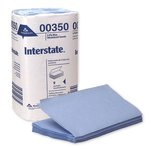 Interstate Blue 2-Ply Single-Fold Auto Care Paper Wipes
