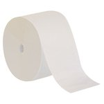 Compact White 6 in. Wide 1-Ply Coreless Bath Tissues