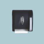 Translucent Smoke Hygienic Push-Paddle Roll Towel Dispenser
