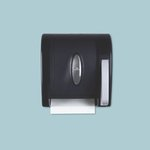 Translucent Smoke Hygienic Push-Paddle Roll Towel Dispenser