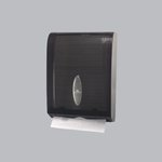 Combi-Fold Vista Gray Plastic C-Fold to Multifold Dispenser