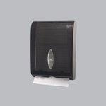 Combi-Fold Vista Gray Plastic C-Fold to Multifold Dispenser