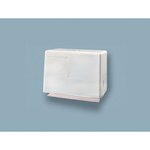 White Steel Easy-Mount Singlefold Towel Dispenser