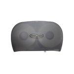Translucent Gray Jumbo Jr. Two Roll Bath Tissue Dispenser