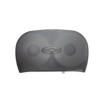 Translucent Gray Jumbo Jr. Two Roll Bath Tissue Dispenser