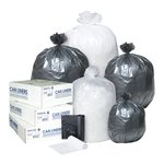 Clear 12 Micron Commercial Coreless Roll 55-60 Gal Can Liners