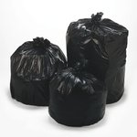 Black 2.0 mil Plastic Low-Density Repro 31-33 Gal Can Liner