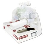 White 13 Micron Industrial Strength Coreless Roll 60 Gal Can Liner
