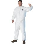 A30 White Splash & Particle Protection Coverall w/ Hood, 4XL