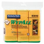 WypAll Yellow Microfiber Cleaning Cloths w/ Microban Protection