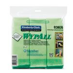 WypAll Green Microfiber Cleaning Cloths w/ Microban Protection