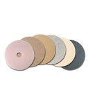 Tan 17 in. Round Ultra High-Speed Burnishing Floor Pads