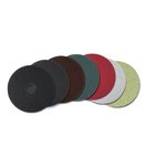 5100 Serie 17 in. Round Red Low Speed Buffing Floor Pad