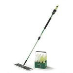 3M High-Gloss Green Easy Scrub Express Microfiber Flat Mop Tool