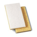 Yellow/White Light-Duty Scrubbing Sponge Pad