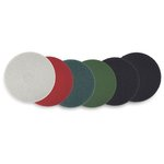 White Standard 15 in. Round Polishing Floor Pads