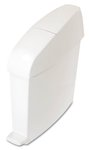 White 3 Gal TC Sanitary Bin 16-1/2X6.1X19-1/3