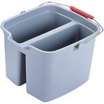 Brute Gray Plastic Double Pail 17 Gal Bucket