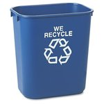 Blue Deskside Paper Recycling 41-1/4 qt. Containers