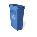 Slim Jim Blue Recycling Container w/ Venting Channels