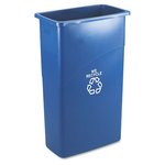 Slim Jim Blue Station Recycling 23 Gal Container