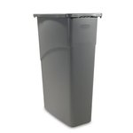 Slim Jim Gray Rectangular 15-7/8 Gal Waste Container