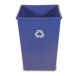 Blue High-Volume Square Station 35 Gal Recycling Container