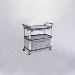 Gray 3-Shelf Instrument Cart