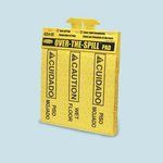 Over-the-Spill Yellow Absorb Spill Cover Pads
