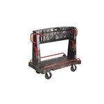 Black Convertible A-Frame 2000 lb Capacity Panel Truck 50X27X49
