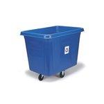 Blue 500 lb Capacity Bulk Cube Recycling Truck