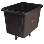 Black 500 lb Cap Laundry & Waste Collection Cube Truck 16 cu. ft.