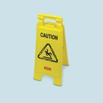 "Yellow 2-Sided ""Caution"" Folding Floor Sign"