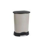 Platinum/Black Plastic Medical Waste Step-On 30 Gal Container