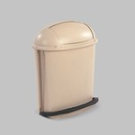 Beige Foot Pedal Rolltop 14.5 Gal Container