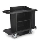 Black Full Size Housekeeping Cart
