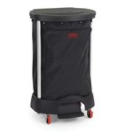 Black Step-On Premium 30 Gal Linen Hamper Bag