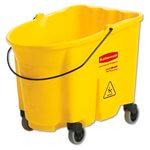 WaveBrake Yellow 35 qt. Bucket w/ Caster Kit