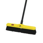 Black Plastic 18 in. Tampico Floor Sweep