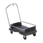 Black 500 lb Capacity Ice Only Cart