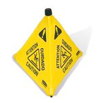 "Yellow Pop-Up ""Caution"" Safety Cone"