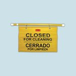 "Yellow ""Closed for Cleaning"" Site Safety Hanging Sign"