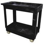 Black 300 lb Capacity Service/Utility Carts 16X34